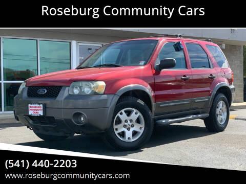 2006 Ford Escape for sale at Roseburg Community Cars in Roseburg OR