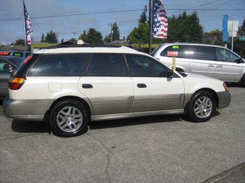 2002 Subaru Outback for sale at UNIVERSITY MOTORSPORTS in Seattle WA
