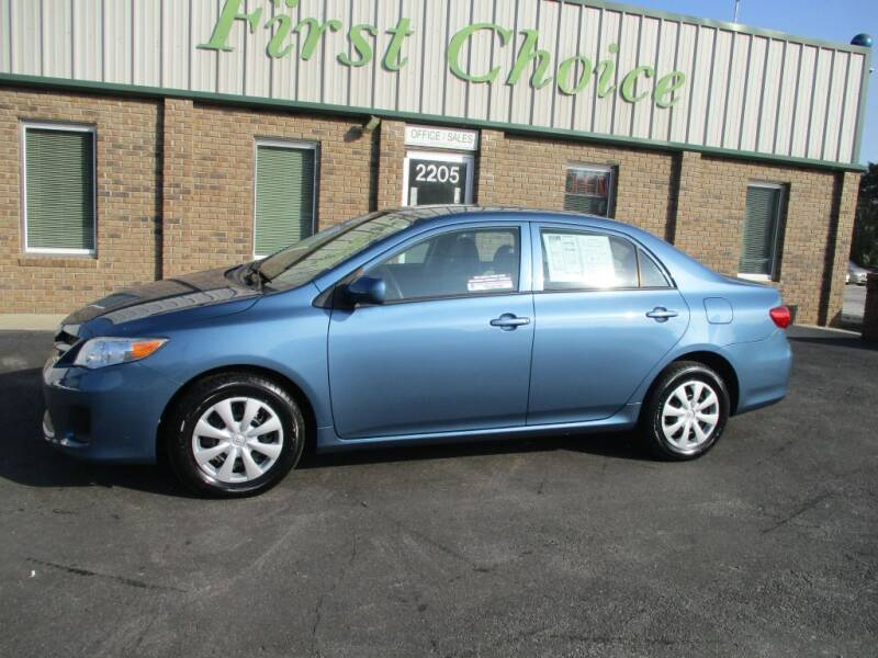 2013 Toyota Corolla for sale at First Choice Auto in Greenville SC
