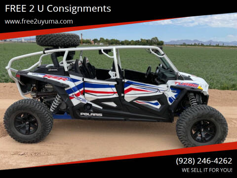 2019 Polaris RZR 4 Turbo for sale at FREE 2 U Consignments in Yuma AZ