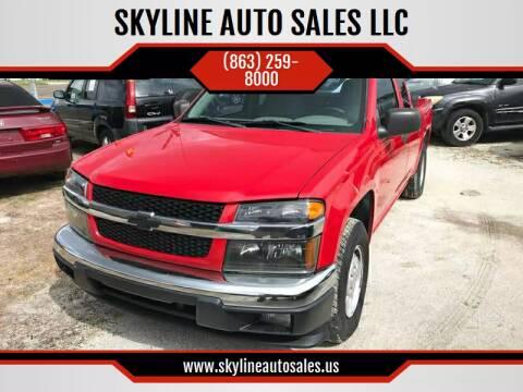2005 Chevrolet Colorado for sale at SKYLINE AUTO SALES LLC in Winter Haven FL