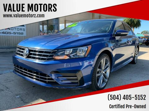 2017 Volkswagen Passat for sale at VALUE MOTORS in Kenner LA