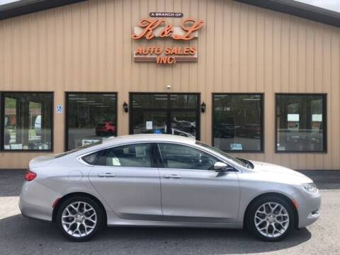 2015 Chrysler 200 for sale at K & L AUTO SALES, INC in Mill Hall PA