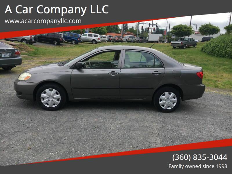 2007 Toyota Corolla for sale at A Car Company LLC in Washougal WA