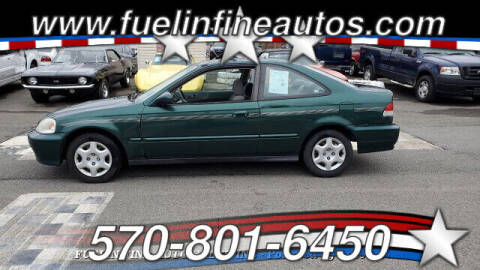 2000 Honda Civic for sale at FUELIN FINE AUTO SALES INC in Saylorsburg PA