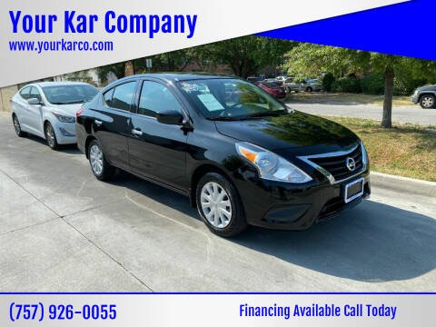 2019 Nissan Versa for sale at Your Kar Company in Norfolk VA