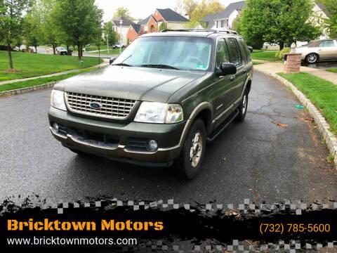 2002 Ford Explorer for sale at Bricktown Motors in Brick NJ