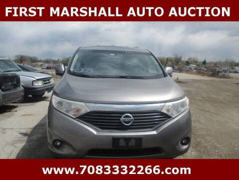 2011 Nissan Quest for sale at First Marshall Auto Auction in Harvey IL