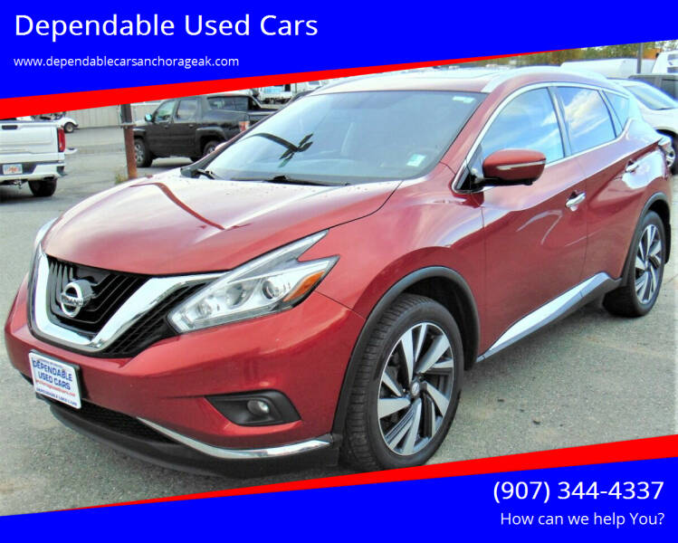 2015 Nissan Murano for sale at Dependable Used Cars in Anchorage AK