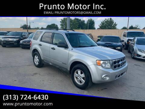 2009 Ford Escape for sale at Prunto Motor Inc. in Dearborn MI