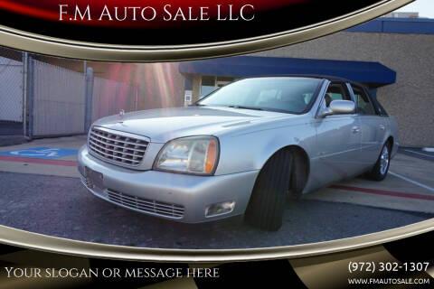 2004 Cadillac DeVille for sale at F.M Auto Sale LLC in Dallas TX
