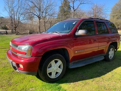 2002 Chevrolet TrailBlazer for sale at Rodeo Auto Sales Inc in Winston Salem NC