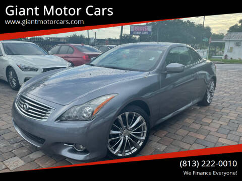 2011 Infiniti G37 Convertible for sale at Giant Motor Cars in Tampa FL