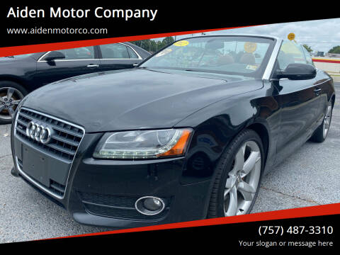 2012 Audi A5 for sale at Aiden Motor Company in Portsmouth VA