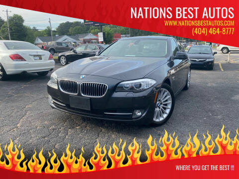 2011 BMW 5 Series for sale at Nations Best Autos in Decatur GA