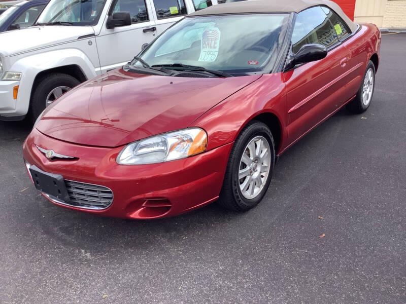 2002 Chrysler Sebring for sale at Motuzas Automotive Inc. in Upton MA