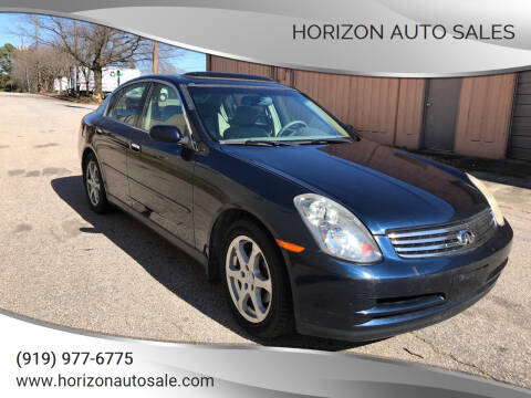 2004 Infiniti G35 for sale at Horizon Auto Sales in Raleigh NC