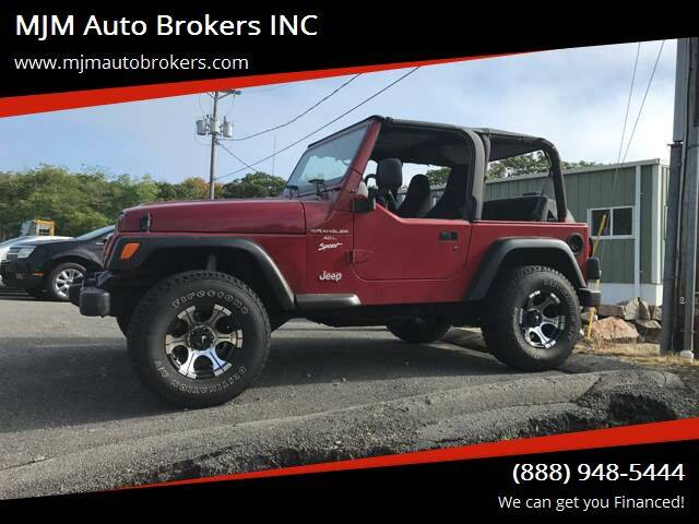 1998 Jeep Wrangler for sale at MJM Auto Brokers INC in Gloucester MA