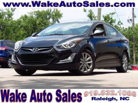 2016 Hyundai Elantra for sale at Wake Auto Sales Inc in Raleigh NC