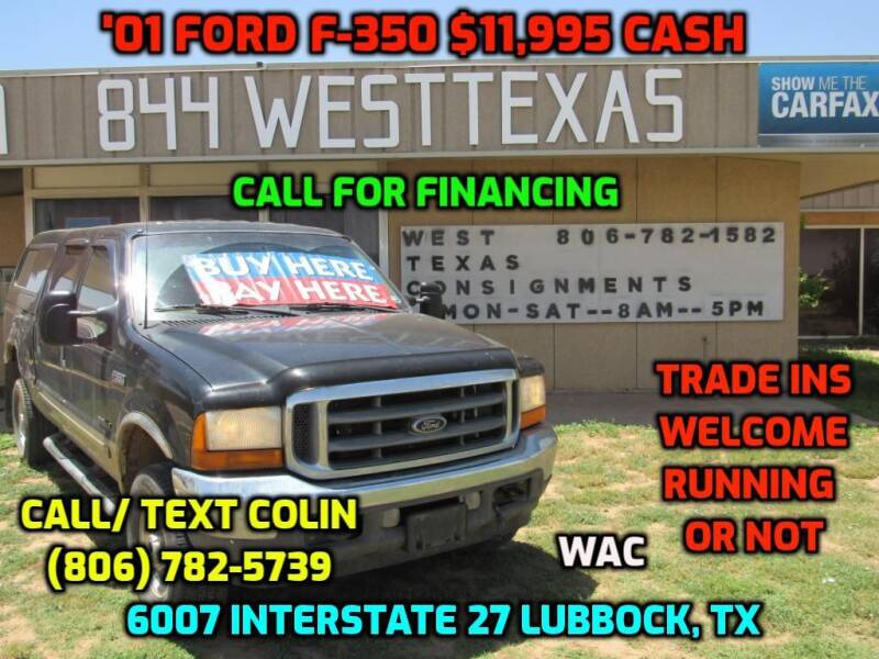 2001 Ford F-350 Super Duty for sale at West Texas Consignment in Lubbock TX