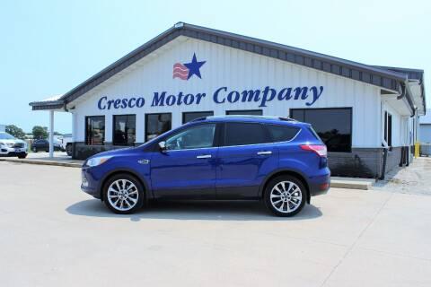 2015 Ford Escape for sale at Cresco Motor Company in Cresco IA