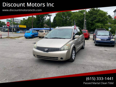 2007 Nissan Quest for sale at Discount Motors Inc in Nashville TN