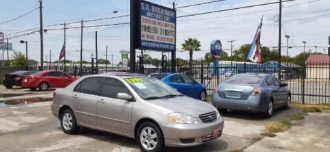2003 Toyota Corolla for sale at S.A. BROADWAY MOTORS INC in San Antonio TX