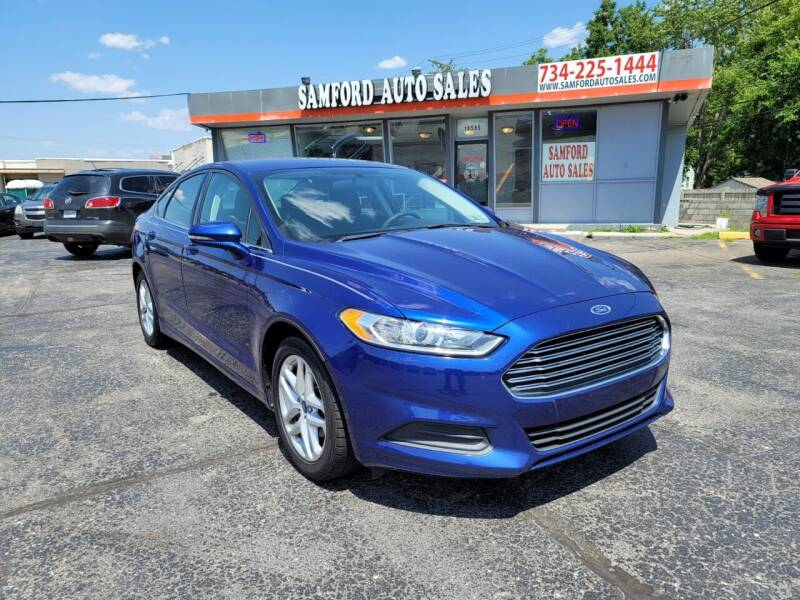 2014 Ford Fusion for sale at Samford Auto Sales in Riverview MI