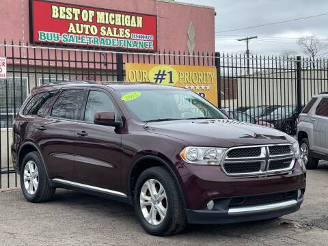 2012 Dodge Durango for sale at Best of Michigan Auto Sales in Detroit MI
