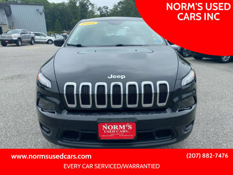 2014 Jeep Cherokee for sale at NORM'S USED CARS INC in Wiscasset ME