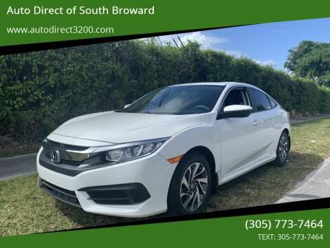2016 Honda Civic for sale at Auto Direct of South Broward in Miramar FL