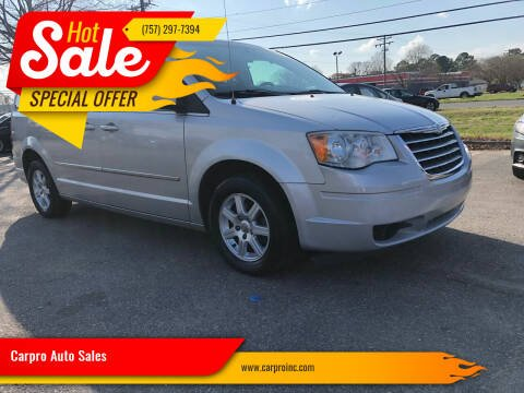 2010 Chrysler Town and Country for sale at Carpro Auto Sales in Chesapeake VA