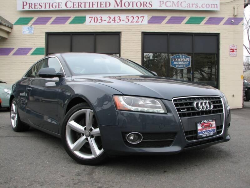 2010 Audi A5 for sale at Prestige Certified Motors in Falls Church VA