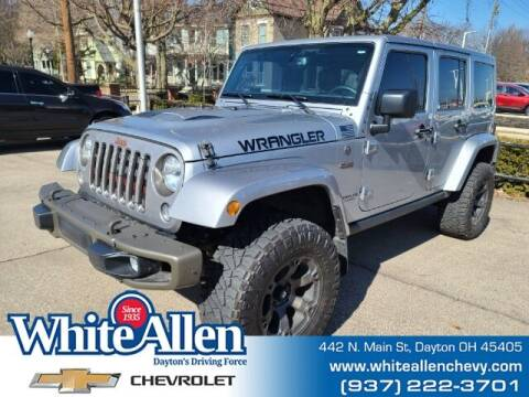 2016 Jeep Wrangler Unlimited for sale at WHITE-ALLEN CHEVROLET in Dayton OH