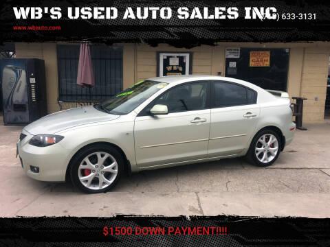 2008 Mazda MAZDA3 for sale at WB'S USED AUTO SALES INC in Houston TX