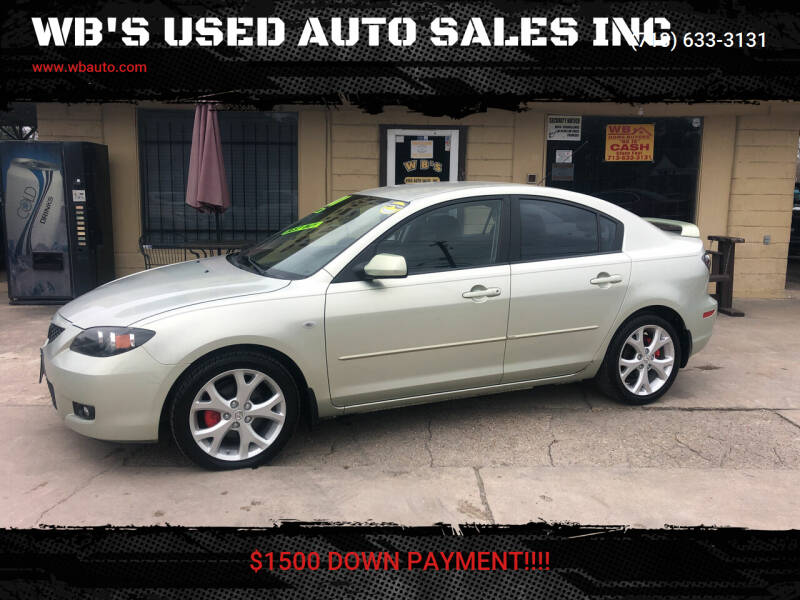 2008 Mazda MAZDA3 for sale at WB'S USED AUTO SALES INC in Houston TX