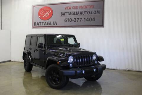 2015 Jeep Wrangler Unlimited for sale at Battaglia Auto Sales in Plymouth Meeting PA