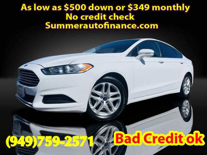 2013 Ford Fusion for sale at SUMMER AUTO FINANCE in Costa Mesa CA