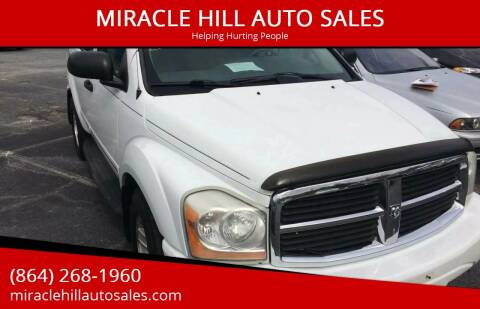 2004 Dodge Durango for sale at MIRACLE HILL AUTO SALES in Greenville SC
