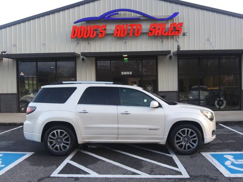 2013 GMC Acadia for sale at DOUG'S AUTO SALES INC in Pleasant View TN
