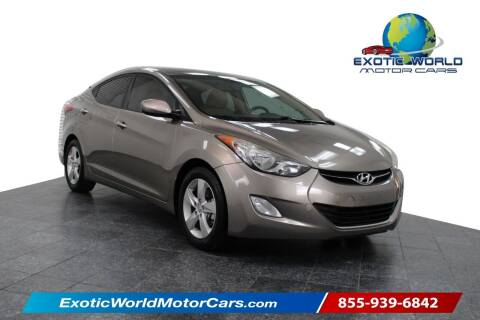 2013 Hyundai Elantra for sale at Exotic World Motor Cars in Addison TX
