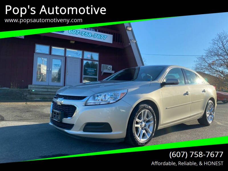 2015 Chevrolet Malibu for sale at Pop's Automotive in Homer NY