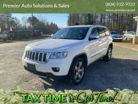 2011 Jeep Grand Cherokee for sale at Premier Auto Solutions & Sales in Quinton VA