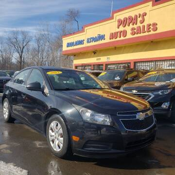 2012 Chevrolet Cruze for sale at Popas Auto Sales in Detroit MI