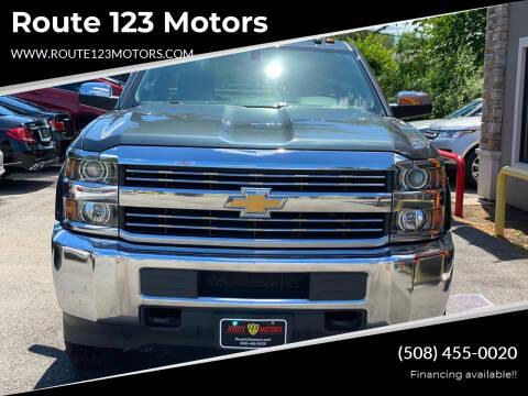 2017 Chevrolet Silverado 2500HD for sale at Route 123 Motors in Norton MA