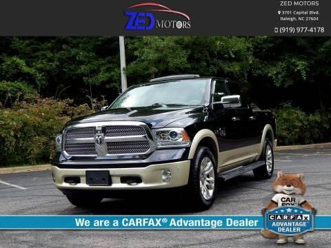 2016 RAM Ram Pickup 1500 for sale at Zed Motors in Raleigh NC