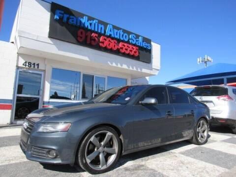 2011 Audi A4 for sale at Franklin Auto Sales in El Paso TX