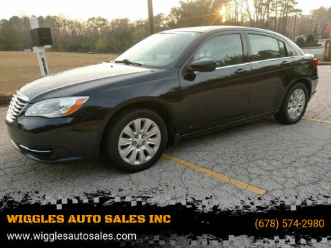 2012 Chrysler 200 for sale at WIGGLES AUTO SALES INC in Mableton GA