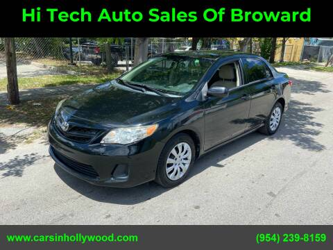 2012 Toyota Corolla for sale at Hi Tech Auto Sales Of Broward in Hollywood FL