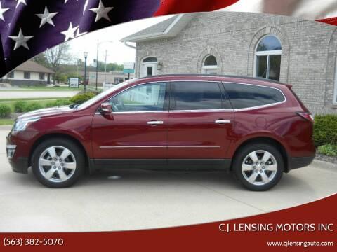 2016 Chevrolet Traverse for sale at C.J. Lensing Motors Inc in Decorah IA